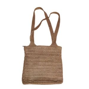 THE SAK Elliot Lucca Tan Knit Crochet Hobo Bag